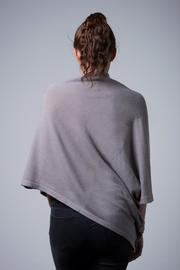 Nine Yaks Cashmere Button Wrap - Front full body