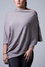 Nine Yaks Cashmere Button Wrap - Front cropped