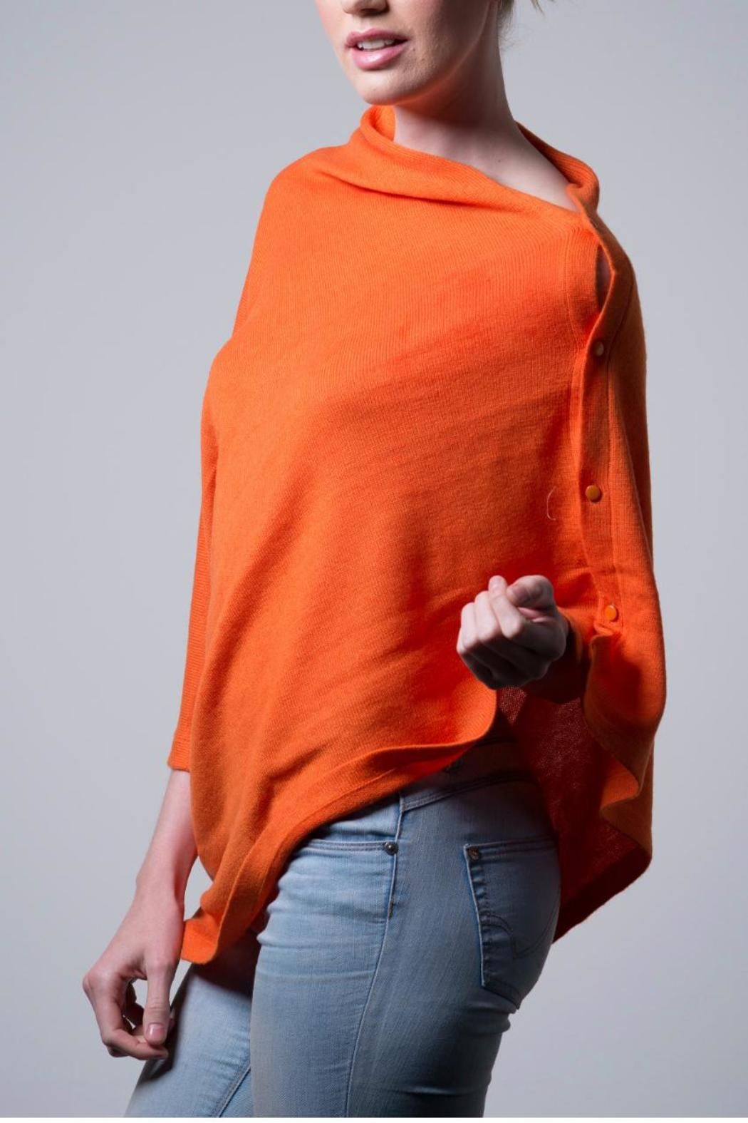 Nine Yaks Cashmere Button Wrap - Front Full Image