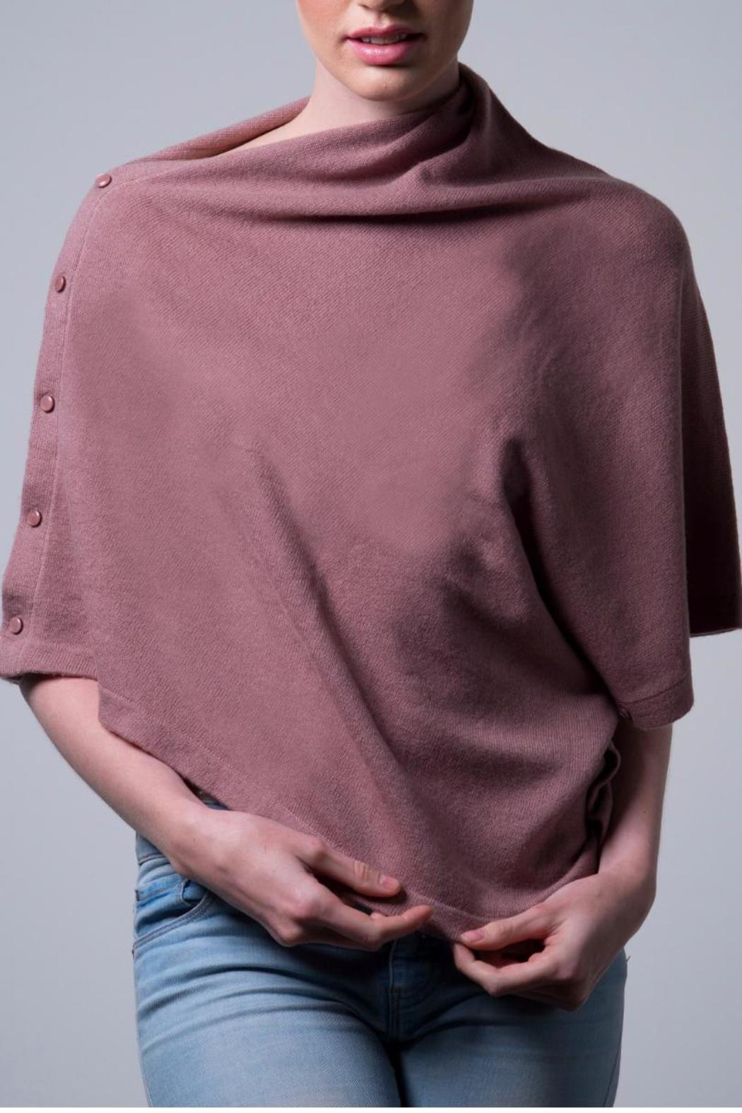 Nine Yaks Cashmere Button Wrap - Front Cropped Image