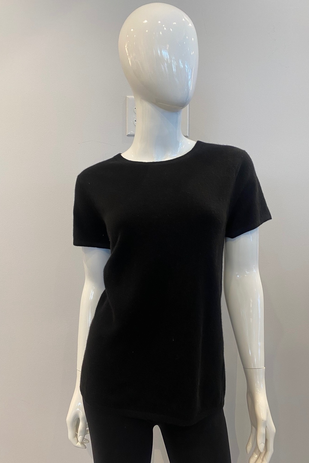 In Cashmere Cashmere Cap Sleeve Top - Front Cropped Image