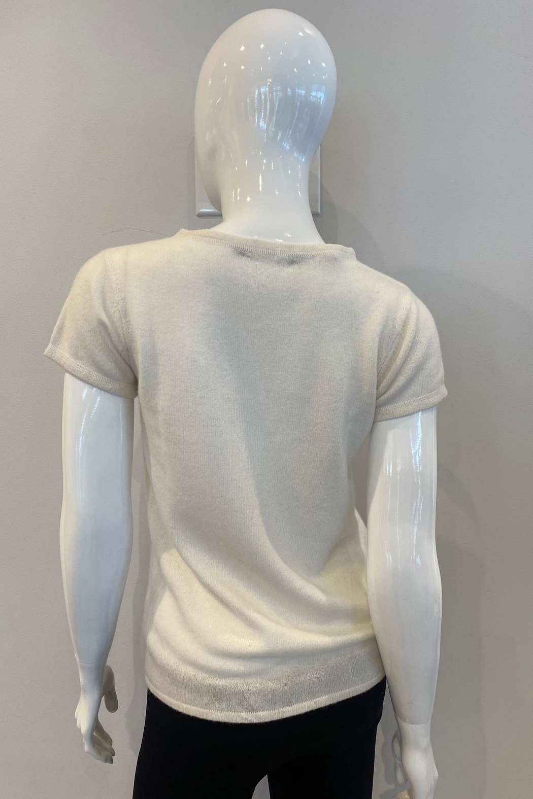 In Cashmere Cashmere Cap Sleeve Top - Front Full Image