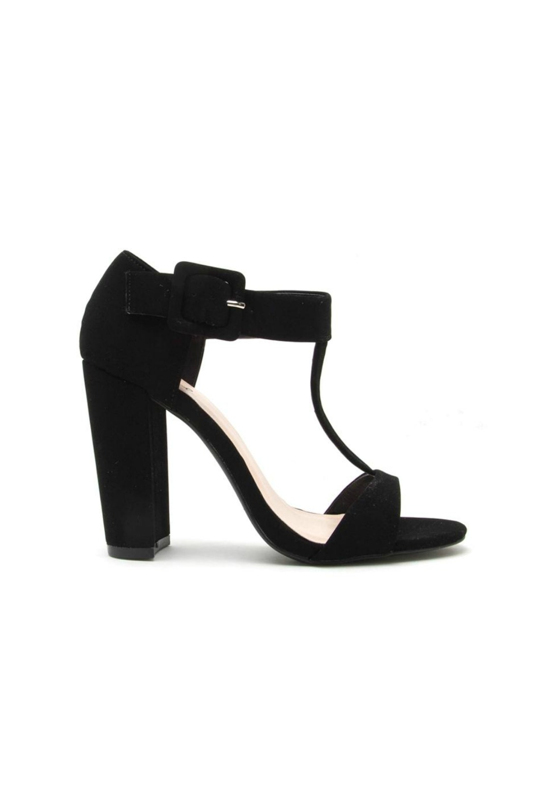 Qupid Cashmere Chunky Heel - Front Full Image