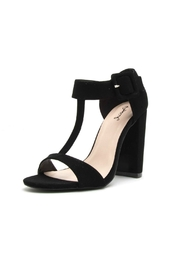 Qupid Cashmere Chunky Heel - Front cropped