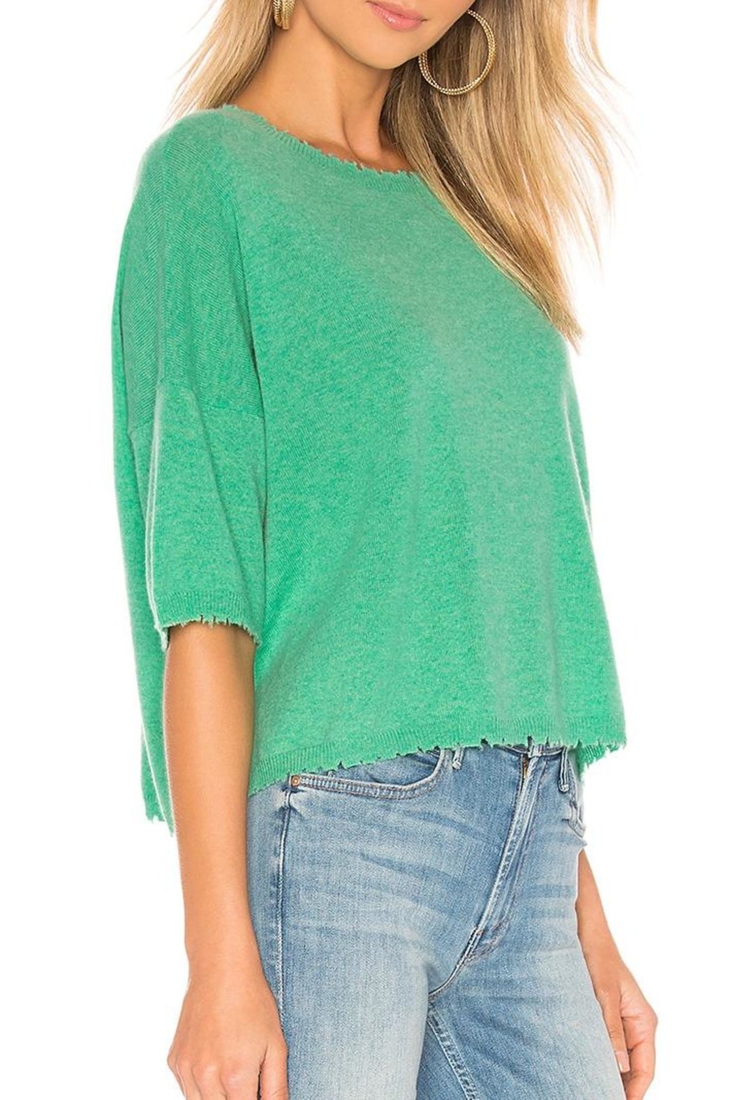 Autumn Cashmere Cashmere Distressed Crew - Front Full Image
