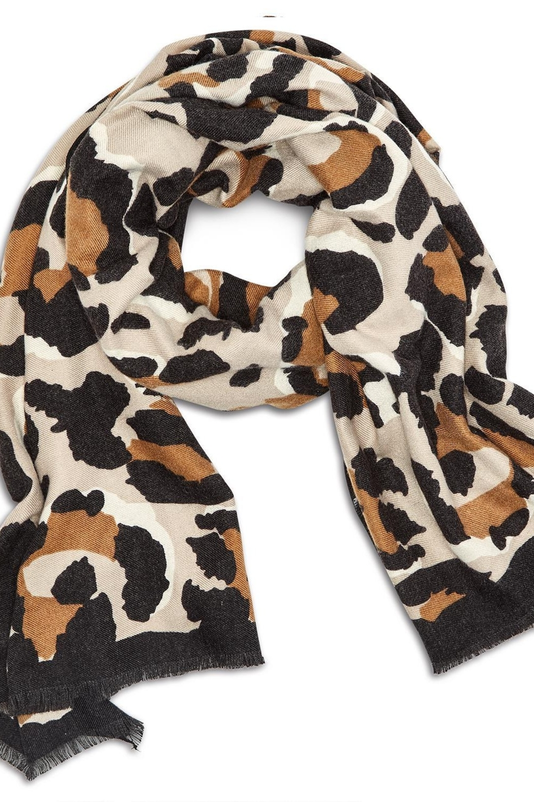 Two's Company Cashmere Feel Leopard Scarf - Front Full Image