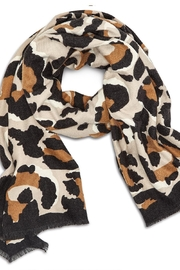 Two's Company Cashmere Feel Leopard Scarf - Front full body