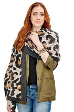Two's Company Cashmere Feel Leopard Scarf - Product List Image