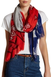 Blue Pacific Cashmere Flag Scarf - Front cropped