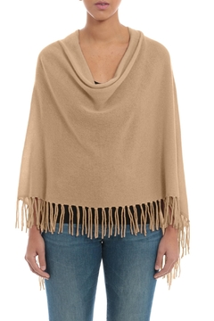 Minnie Rose Cashmere Fringe Ruana - Alternate List Image