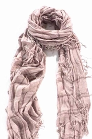 Blue Pacific Cashmere Grey Scarf - Front cropped