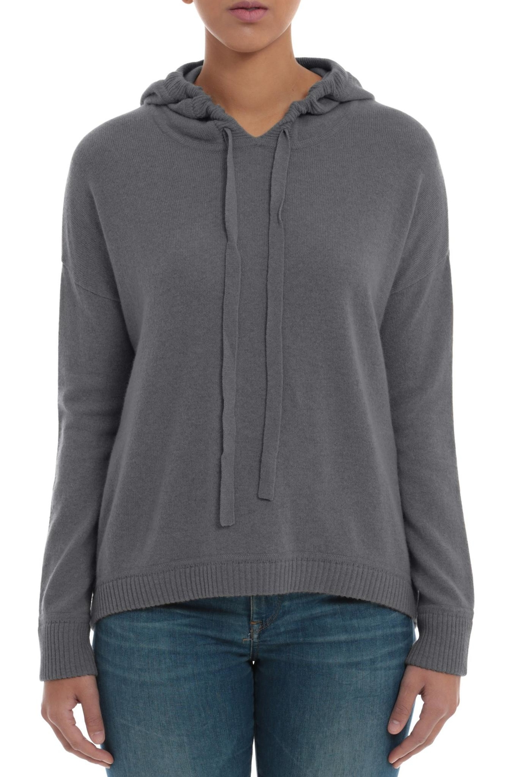 Minnie Rose Cashmere High-Low Hoodie - Main Image