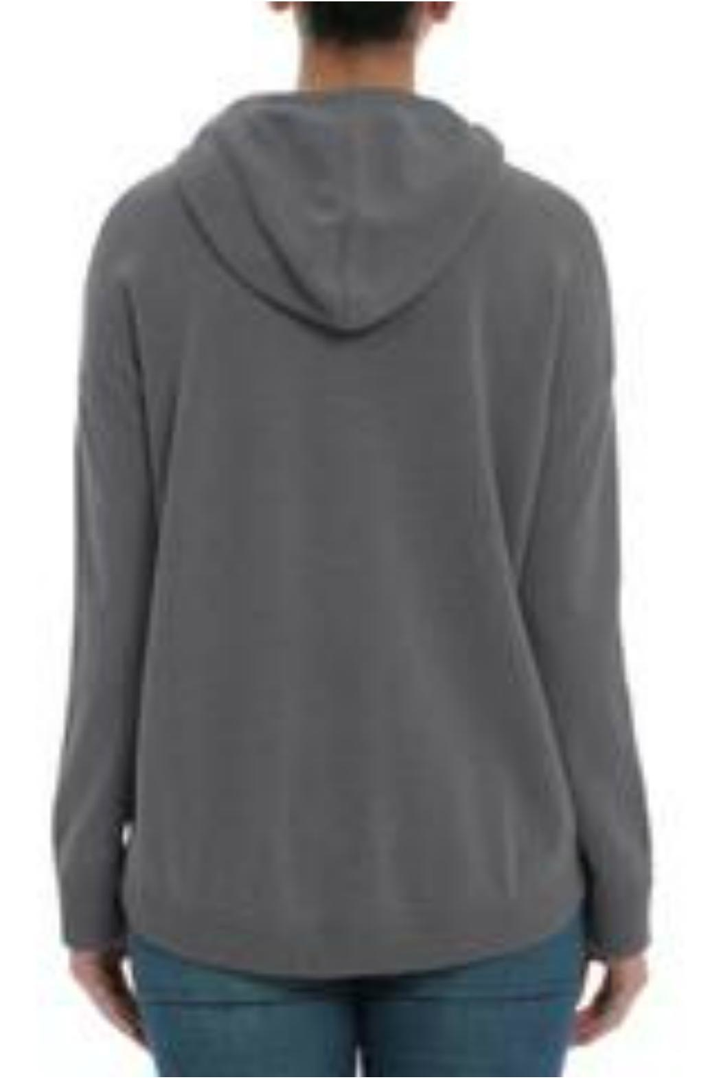 Minnie Rose Cashmere High-Low Hoodie - Side Cropped Image