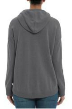 Minnie Rose Cashmere High-Low Hoodie - Alternate List Image