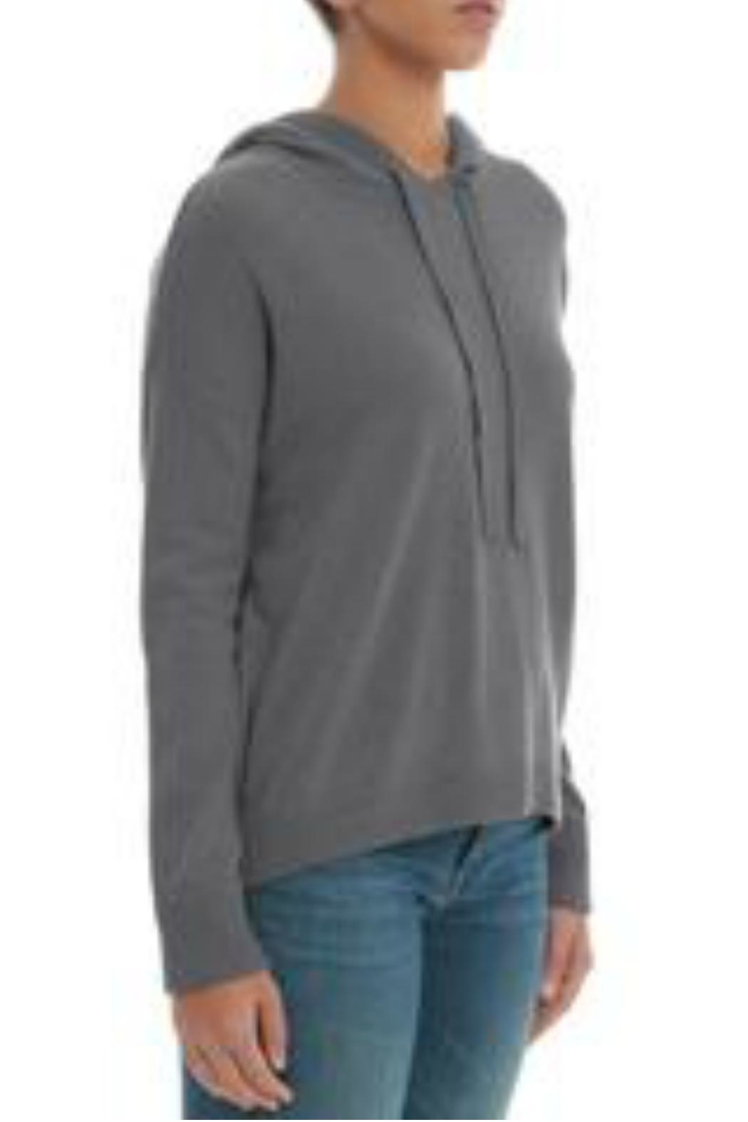 Minnie Rose Cashmere High-Low Hoodie - Front Full Image