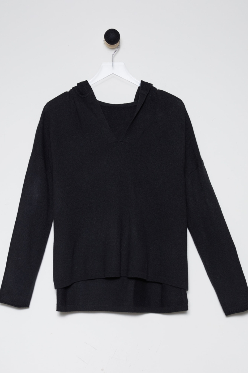 Revive Cashmere Cashmere Hoodie - Back Cropped Image