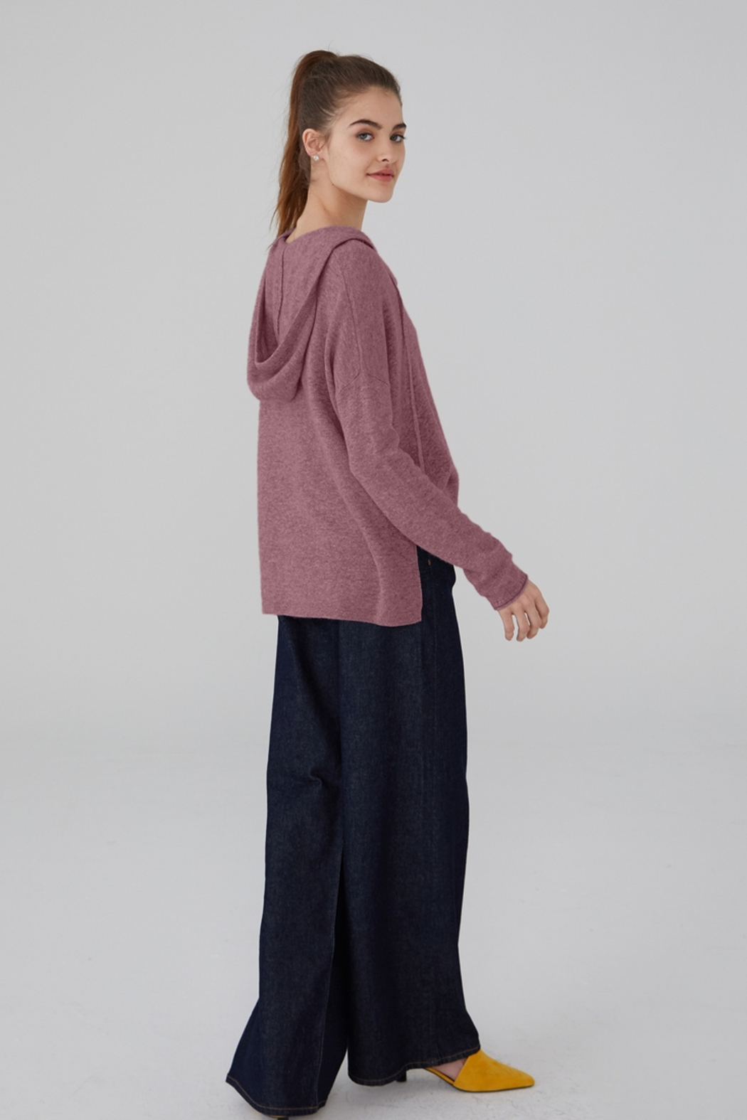 Revive Cashmere Cashmere Hoodie - Front Full Image