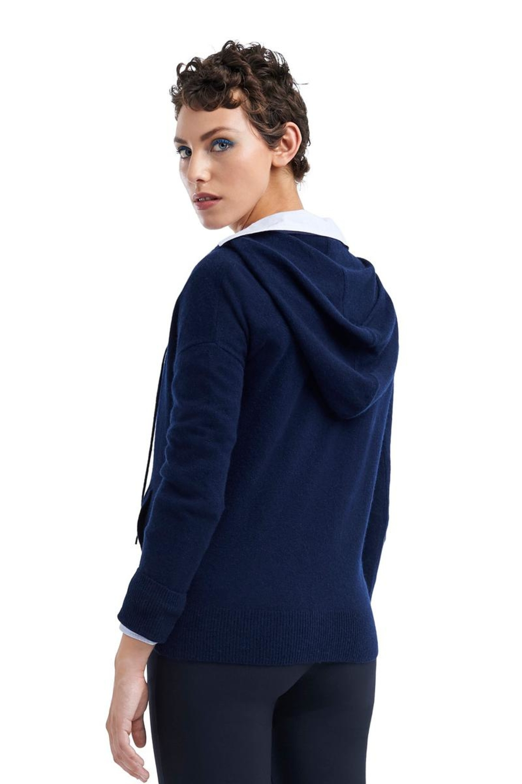 TAGS Cashmere Hoodie - Front Full Image