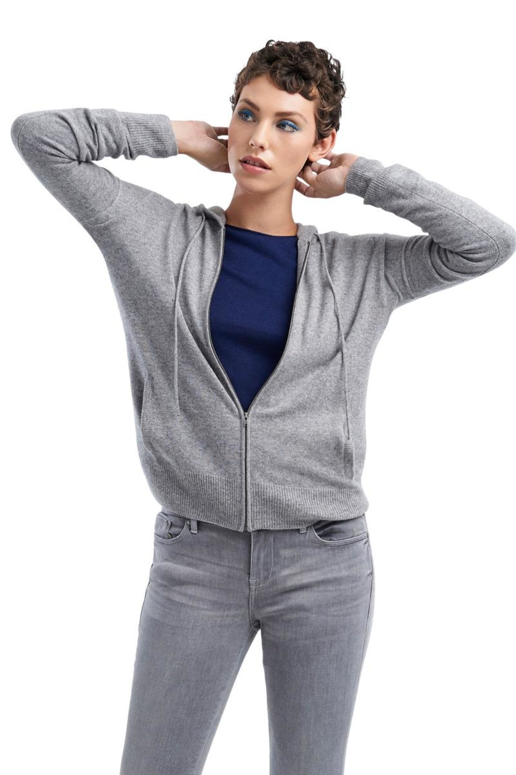 TAGS Cashmere Hoodie - Front Cropped Image