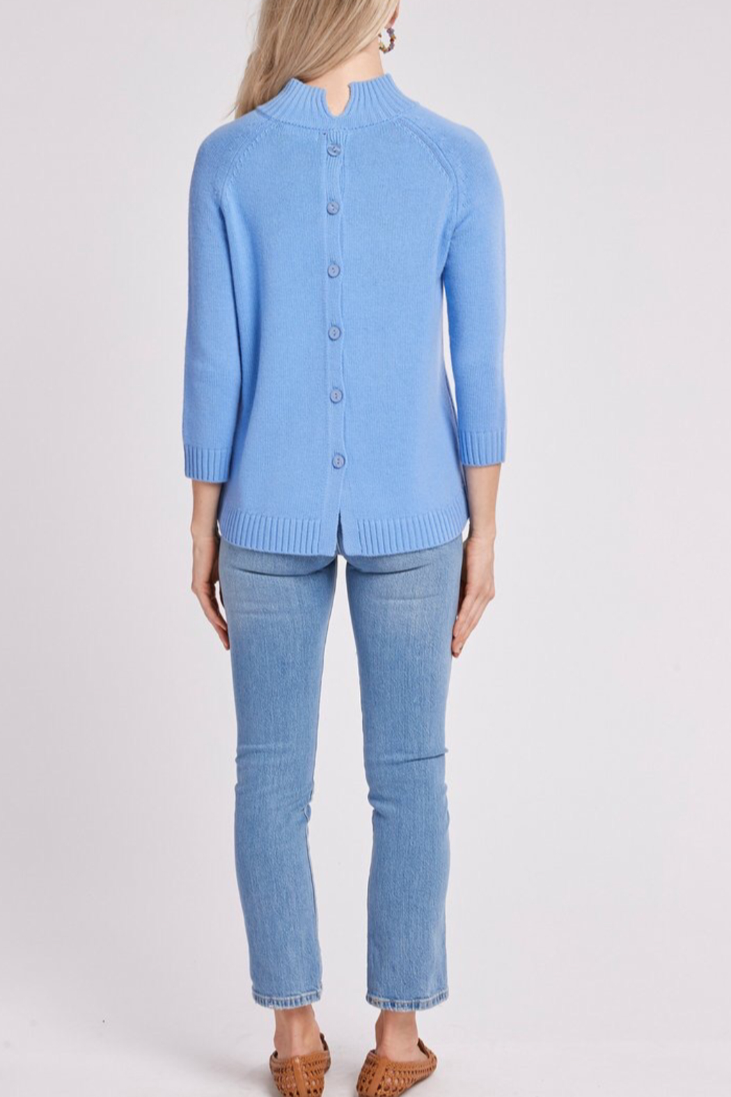 Tyler Boe Cashmere Mock Neck Sweater - Front Cropped Image