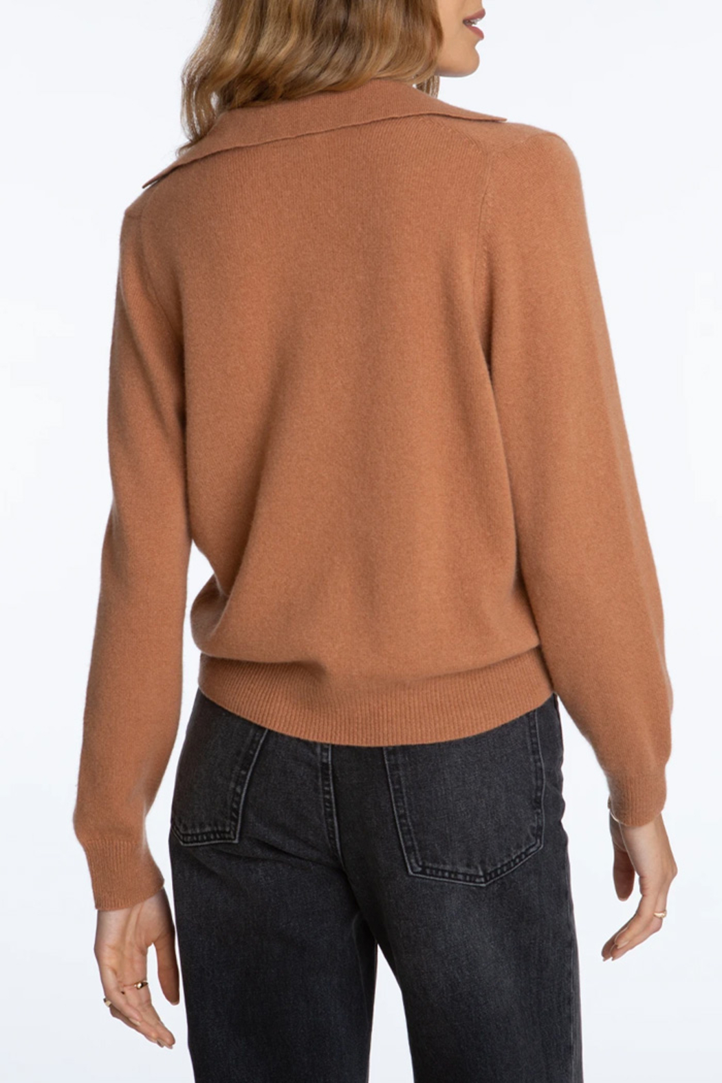 525 America Cashmere Polo Pullover - Front Full Image