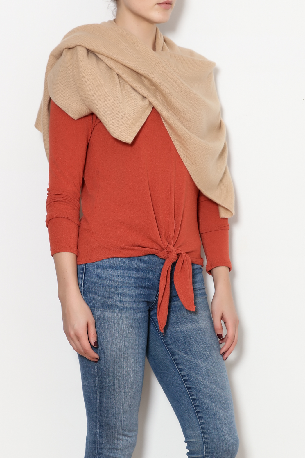 Tees by Tina Cashmere Ruana - Front Full Image