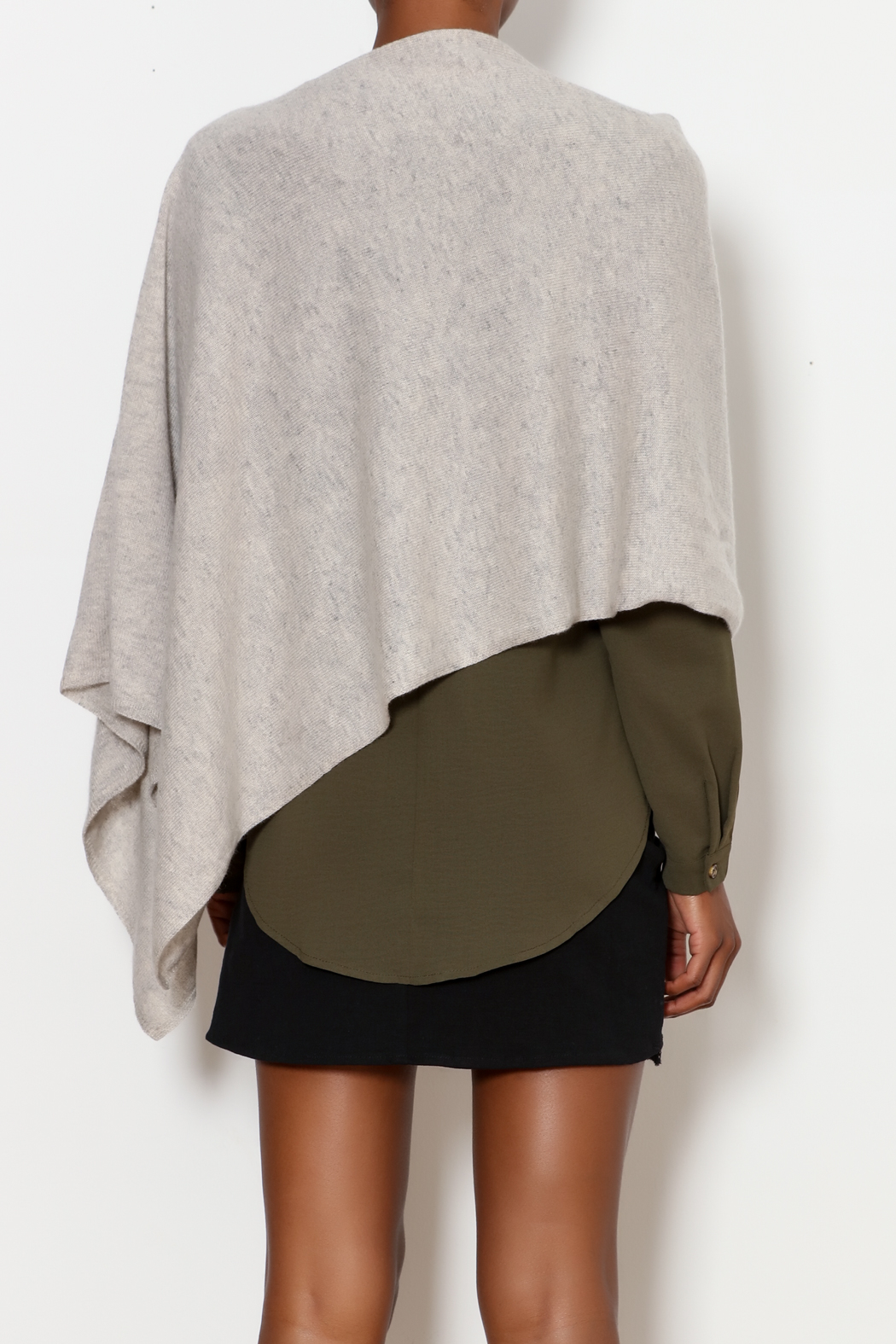 Tees by Tina Cashmere Ruana - Back Cropped Image