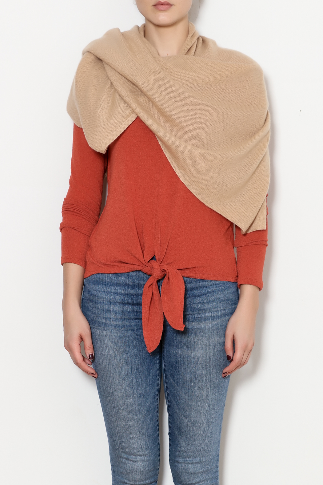 Tees by Tina Cashmere Ruana - Side Cropped Image