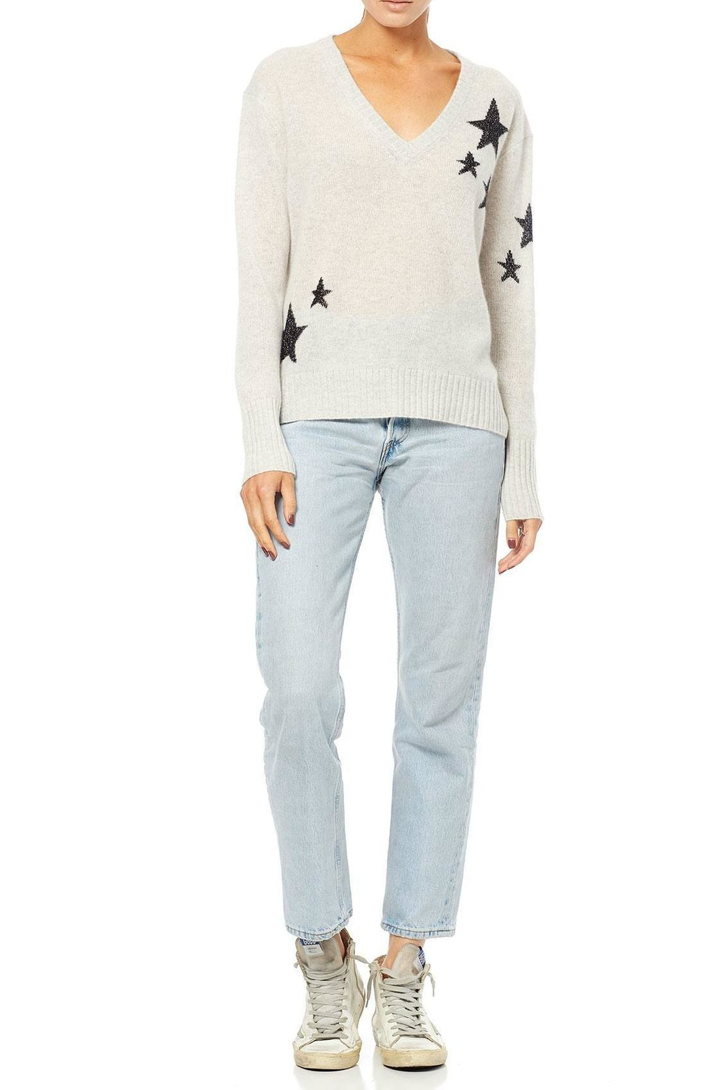 360 Cashmere Cashmere Star Sweater - Side Cropped Image