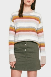 White + Warren Cashmere Stripe Crew - Product Mini Image
