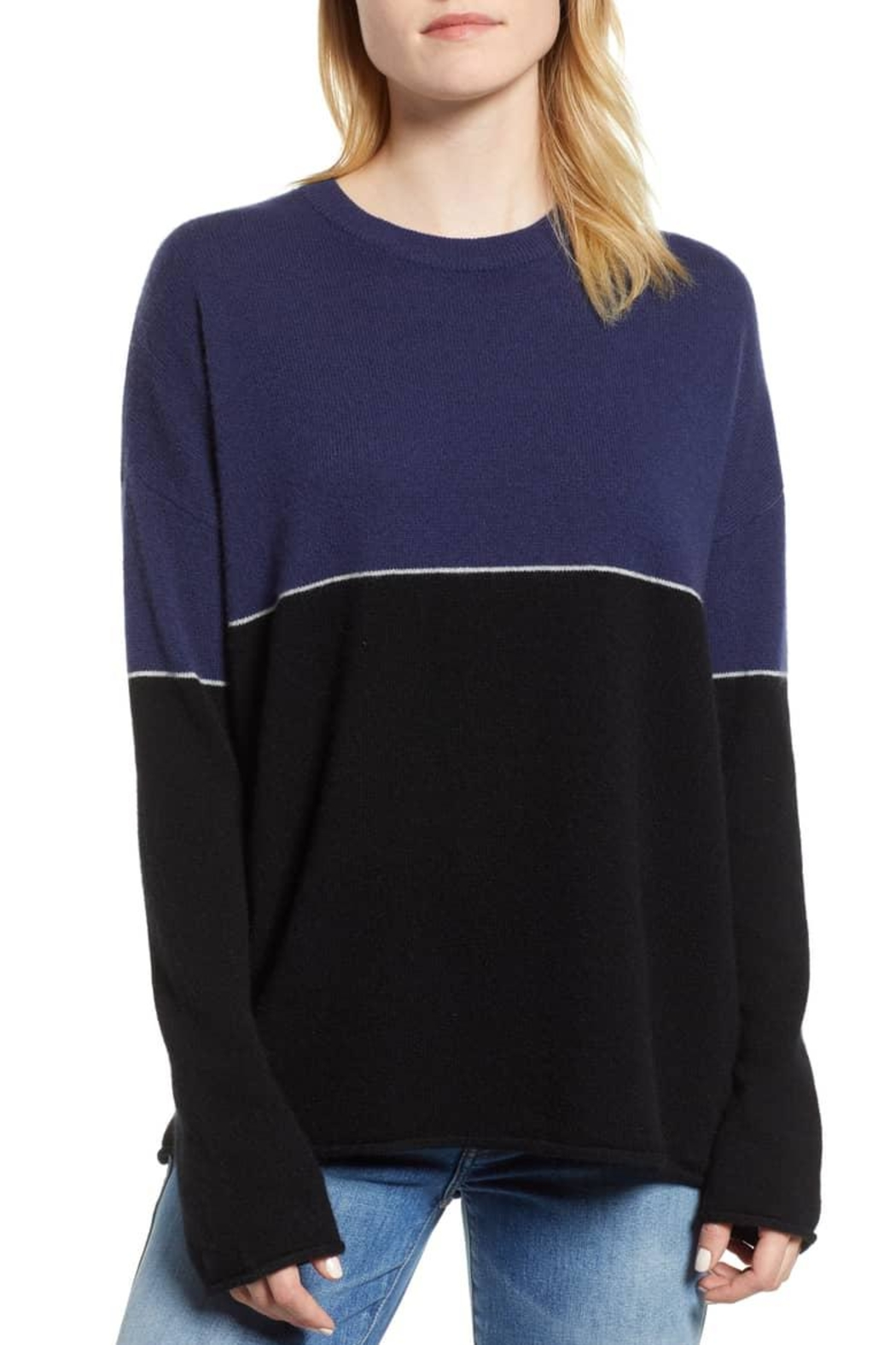 Velvet Cashmere Sweater - Front Cropped Image