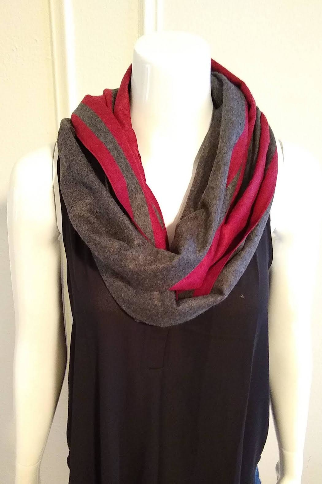 Blue Pacific Cashmere Two-Tone Scarf - Main Image