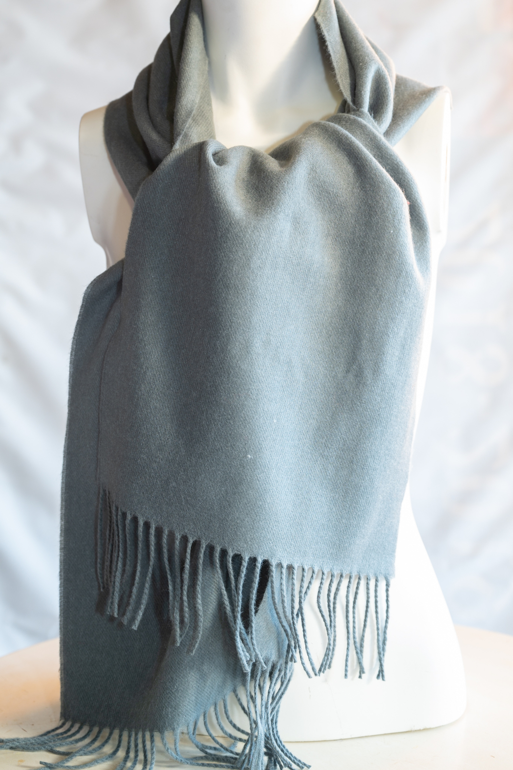 Handmade by CA artist 100% Cashmere with Knit Poms - Front Cropped Image