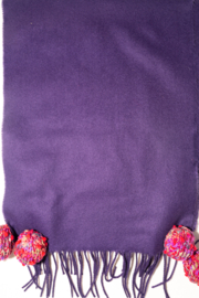 Handmade by CA artist 100% Cashmere with Knit Poms - Other