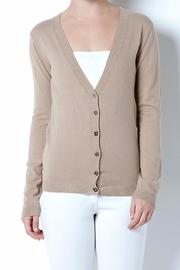Cashmere Wool Cardigan Sweater - Front cropped