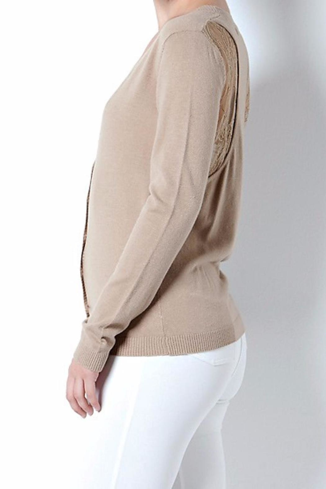 Cashmere Wool Cardigan Sweater - Side Cropped Image