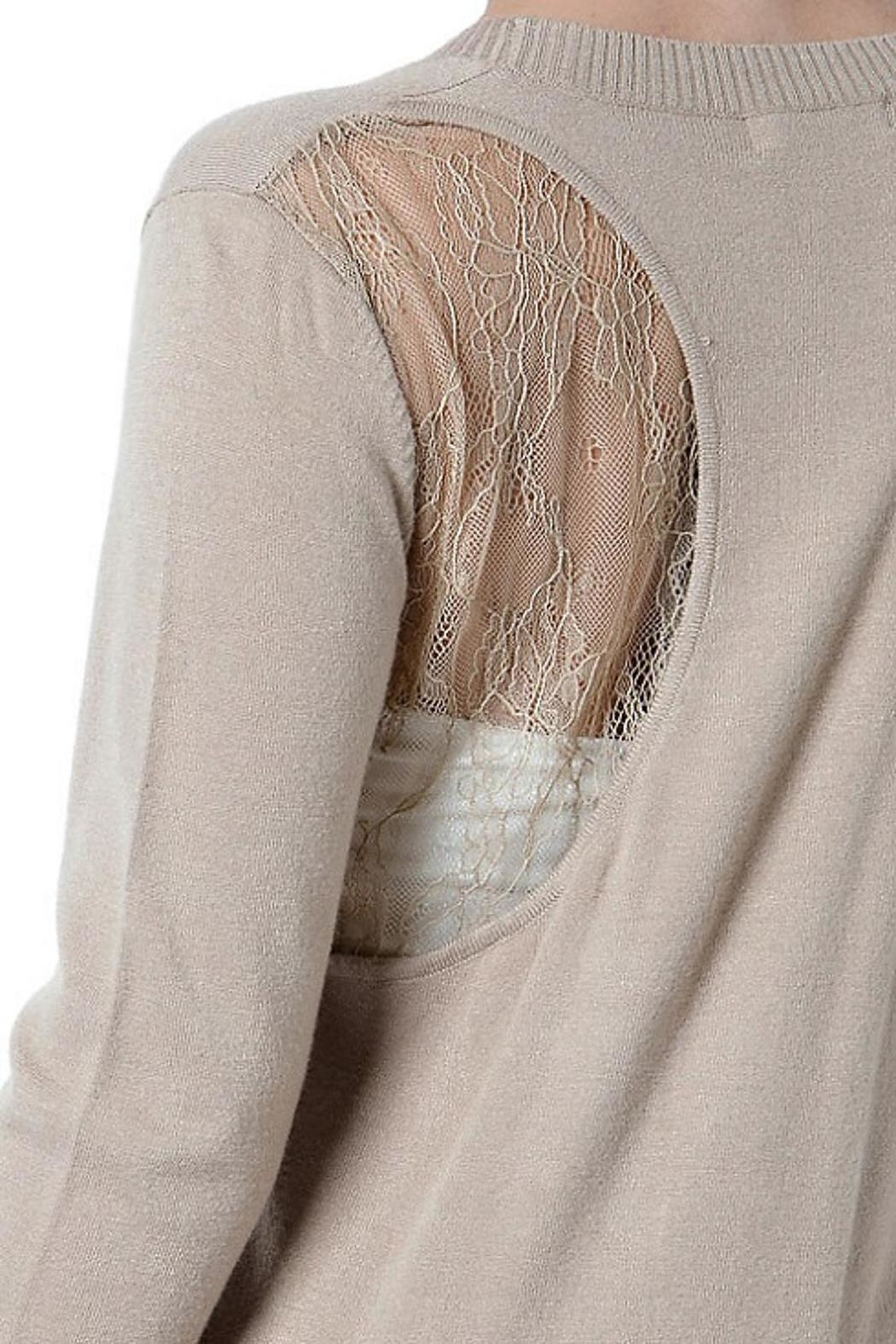 Cashmere Wool Cardigan Sweater - Back Cropped Image