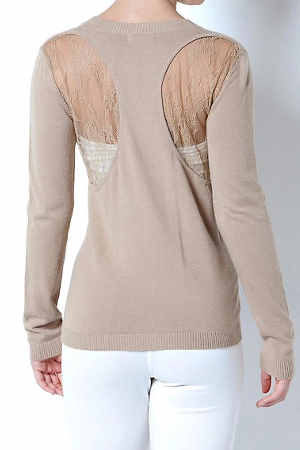 Cashmere Wool Cardigan Sweater - Front Full Image