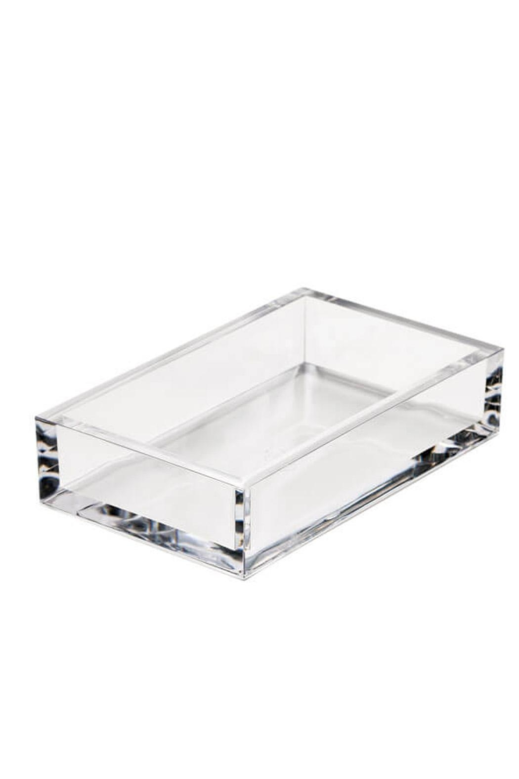 Caspari Clear Crystal Acrylic Paper Guest Towel Holder - Main Image