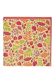 Caspari Calico Leaves Cocktail Napkins - Front cropped
