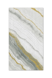 Caspari Marble Grey Guest Towels - Front cropped