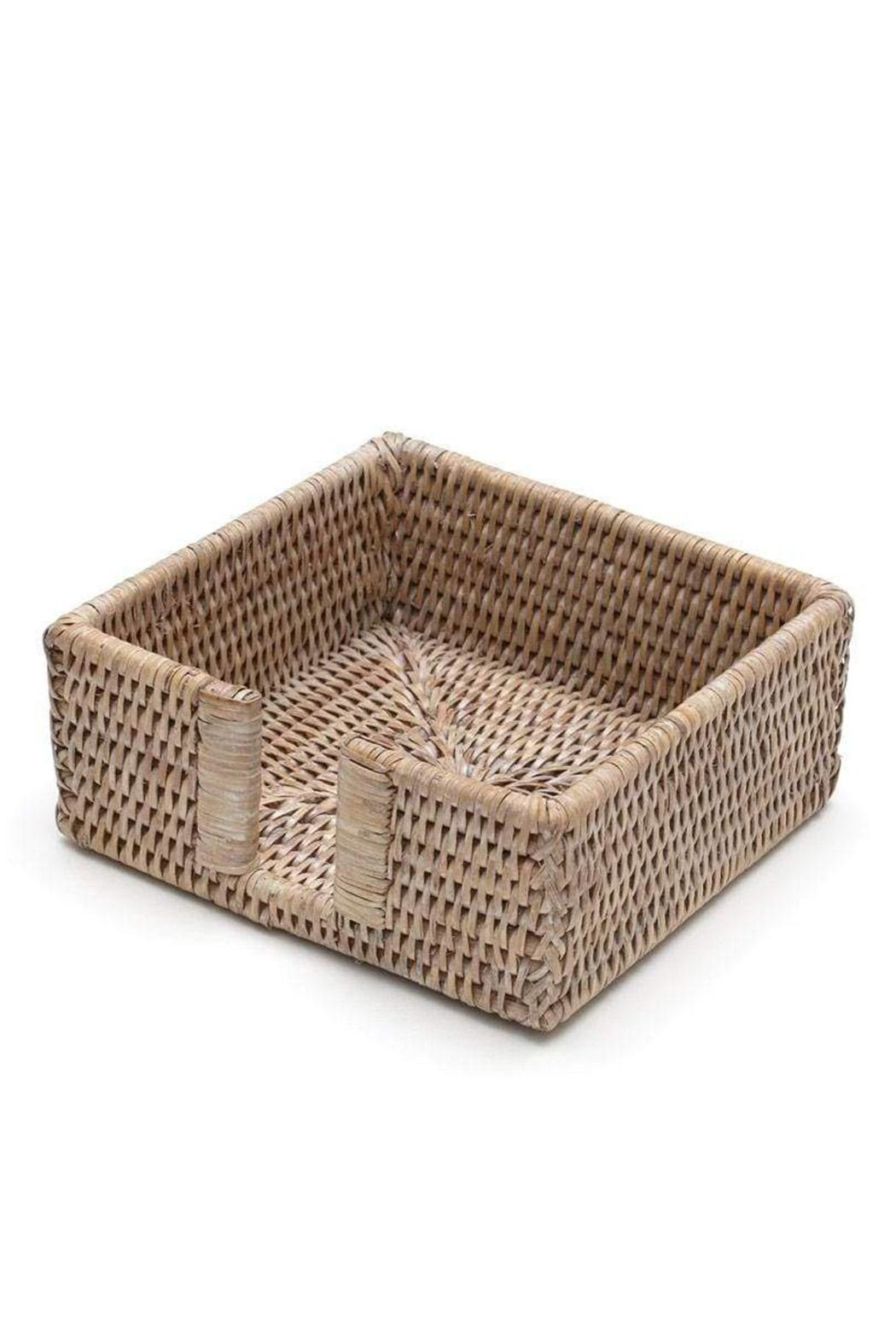Caspari Rattan Cocktail Napkin Holder - Main Image