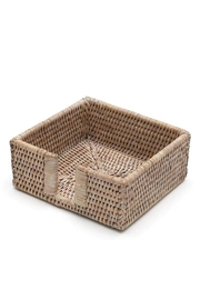 Caspari Rattan Cocktail Napkin Holder - Front cropped