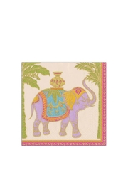 Caspari Royal Elephant Cocktail Napkin - Product Mini Image