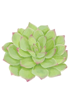 Caspari Succulents Die-Cut Single-Placemat - Product List Image