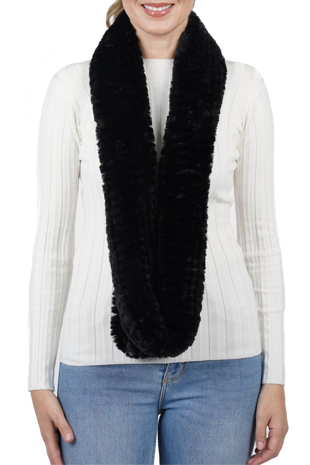 love token Cassidy Infinity Faux Fur Scarf - Main Image