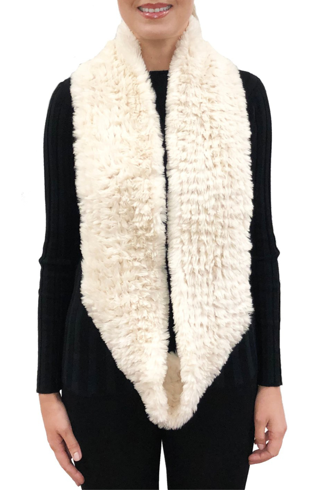 love token Cassidy Infinity Faux Fur Scarf - Front Cropped Image