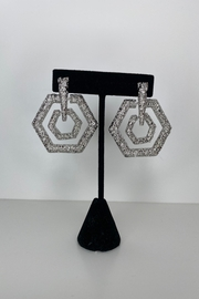 Adriana Bijoux Cassie Circle Statment Earrings - Product Mini Image