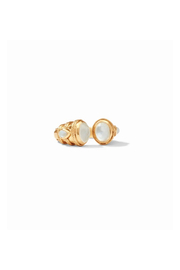 Julie Vos Cassis Ring Gold Iridescent Clear Crystal - Size 7 - Product Mini Image