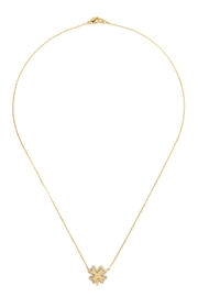 Riah Fashion Cast-Clover Leaf-Pave-Necklace - Product Mini Image